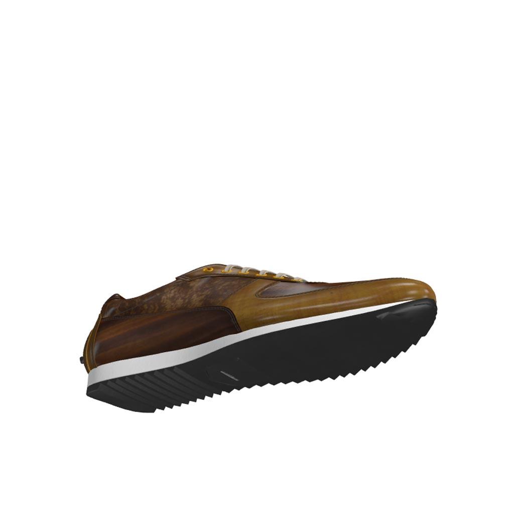 Bottom view of model Bardford, cognac crust patina, brown crust patina Golf BespokeShoes