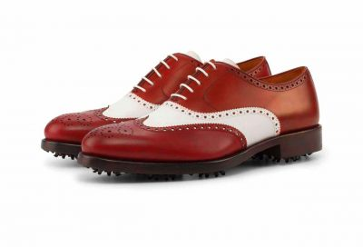 Left side Full Brogue Golf Bespoke Shoes
