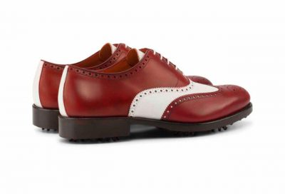 Right side Full Brogue Golf Bespoke Shoes