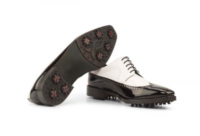 Front side Longwing Blucher Golf Bespoke Shoes