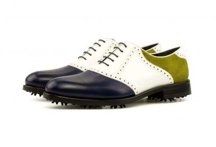 Left side Saddle Golf Bespoke Shoes
