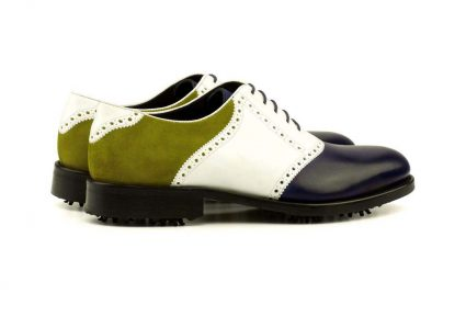 Right side Saddle Golf Bespoke Shoes
