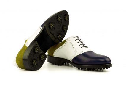 Front side Saddle Golf Bespoke Shoes